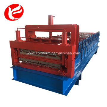Roof panel double deck roll forming line